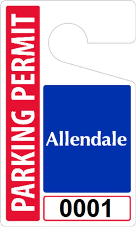custom parking tag designs 5 x 3