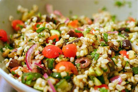 mediterranean eggplant and barley salad smitten kitchen