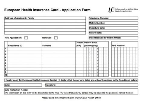 Credit Union Application Form Ireland Explainer Why Should You Get A European Health Insurance Card Before Travelling