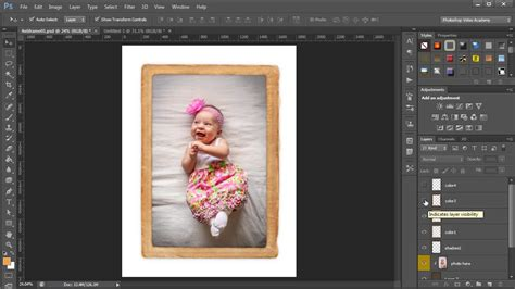 template photoshop photo frame insert a photo into a photoshop photo frame template with