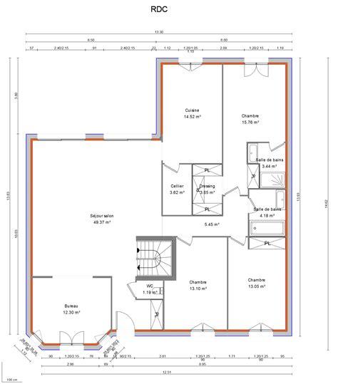 Plan Maison En L Plain Pied 28 Images Plan Maison avis plan maison plain pied en l avec bow window et garage
