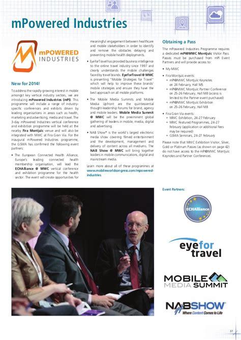 world mobile congress 2014 mobile world congress 2014 brochure