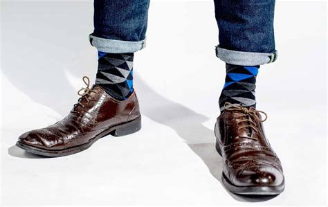 8 Pairs Of Colored Denim For by How To Pair Colorful Socks With Brown Shoes Society Socks