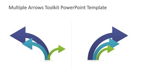 Curved Arrows Icons Slide Slidemodel Arrow Powerpoint Template