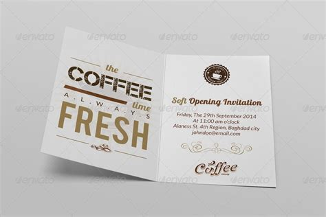 invitation card design for restaurant opening cafe soft opening invitation card vol 3 by owpictures