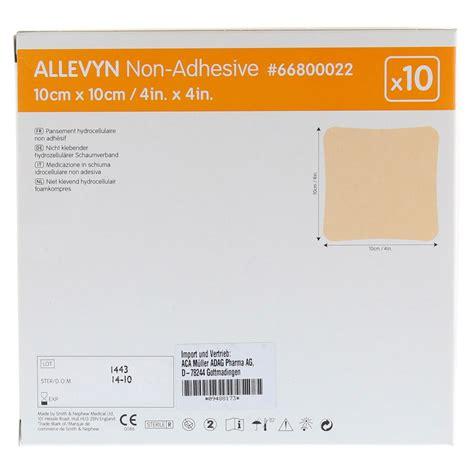 Allevyn Non Adhesive 10 Cm 20 Cm Foam Dressing allevyn non adhesive 10x10 cm wundverband 10 st 252 ck bestellen medpex versandapotheke