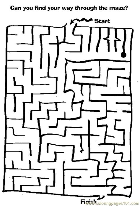 printable maze colouring pictures coloring pages maze 47 entertainment gt mazes free