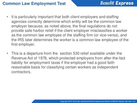 section 530 of the revenue act of 1978 temporary employees and the employer mandate
