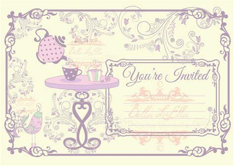 tea party invitations free download forest jovenesambientecas co