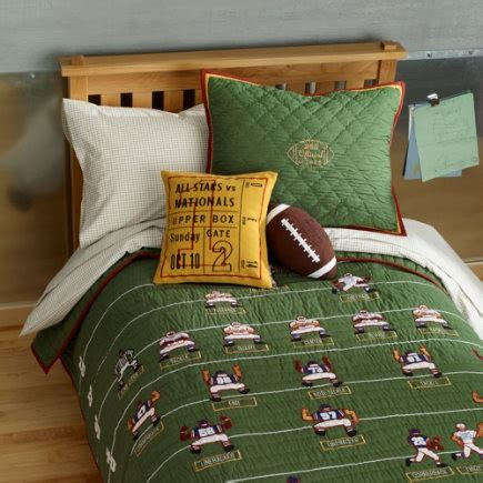 football comforters love this football bedding from the land of nod a great