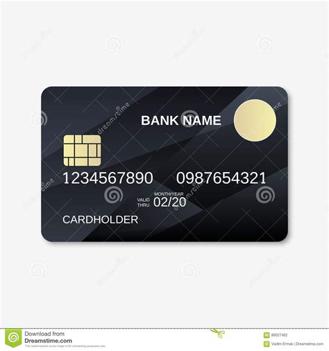 credit card design template vector bank card credit card discount card design template