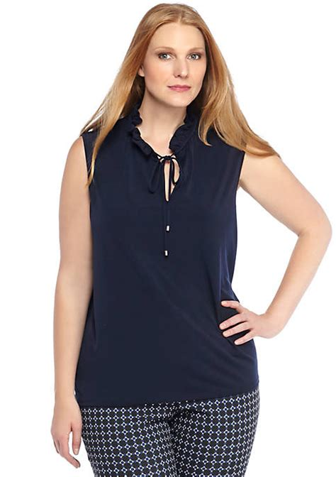 Limited Edition Tie Neck Blouse by Plus Size Tie Neck Sleeveless Top The Limited