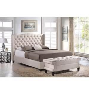 bedroom furniture sets queen queen baxton studio zant queen king light beige modern  pc bedroom set