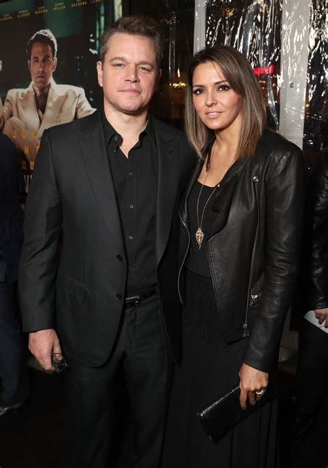 film terbaru matt damon 2017 matt damon and wife at live by night premiere january 2017