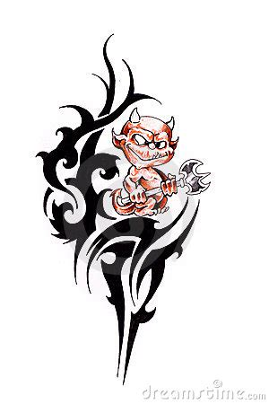 devil tribal tattoo images designs