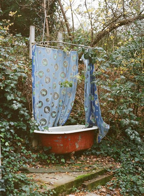 outdoors shower curtain outdoor bath switch the shower curtain to a white
