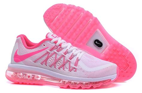 nike air max 2015 shoes for white pink