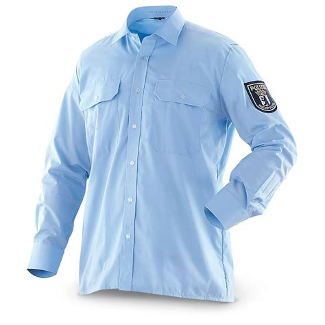 police shirt 3 new german police dress shirts light blue 182322