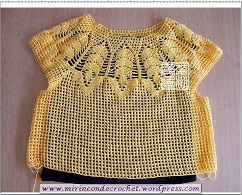paso a paso blusas de crochet blusa con gr 225 fico y paso a paso mi rincon de crochet