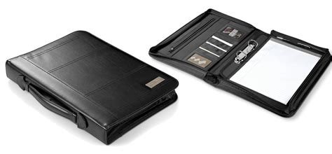 Branded Laser Black Bigsize 31 34 corporate branded leather folders corporate gifts