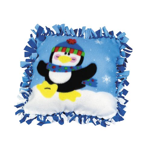 Fleece Tie Pillow by Fleece Penguin Pillow Craft Kit Trading