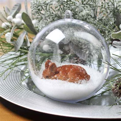 100mm clear acrylic fillable ball ornament acrylic