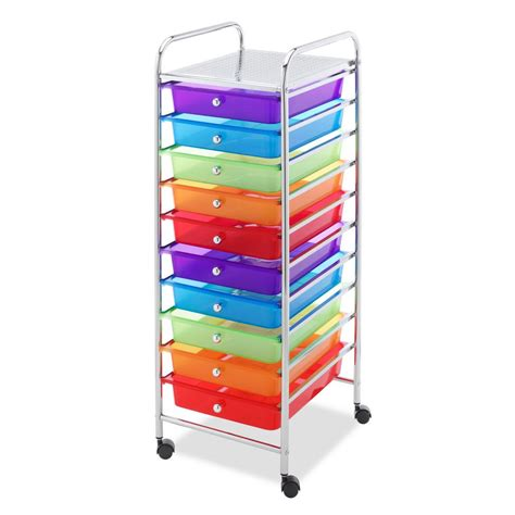 Rolling Cart With Drawers by Whitmor Rolling Metal Cart With Drawers 60497060bb The