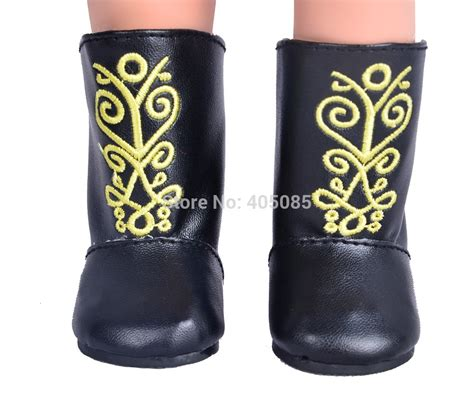 American Handmade Boots - new black doll shoes boots doll clothes for 18 quot american