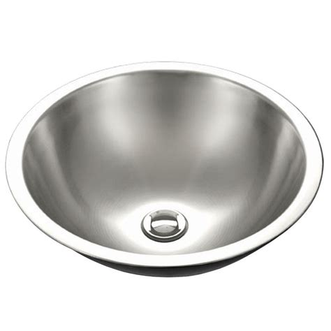 16 stainless steel drop in kitchen sink houzer series drop in stainless steel 16 in single