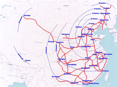american rail network map china flexes its high speed rail muscles by rolling out 32