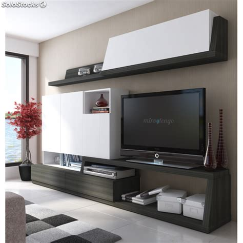 muebles salon completo mueble tv completo modular de salon comedor en blanco y