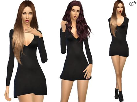 dresses sims 4 download little black dress satin at cherryberry 187 sims 4 updates