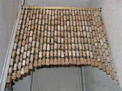wine cork curtain 20 creative ideas for interior decorating with wine bottle