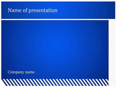 free blue lines powerpoint template for presentation