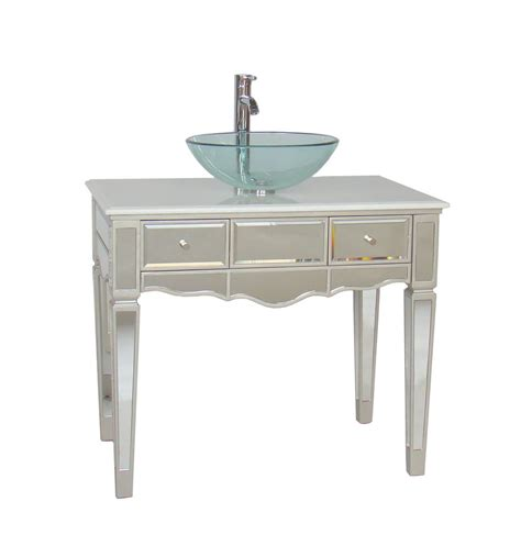 mirrored bath vanity 36 quot mirror reflection alston vessel sink bathroom sink