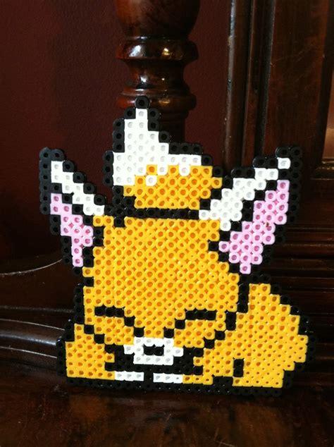 perler bead fox fox perler bead 4 99 via etsy my etsy store