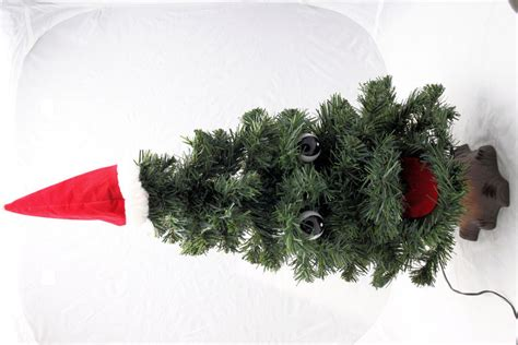 singing douglas fir halloween talking prop animated tree