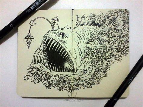 moleskine doodles angry angler by kerbyrosanes on deviantart