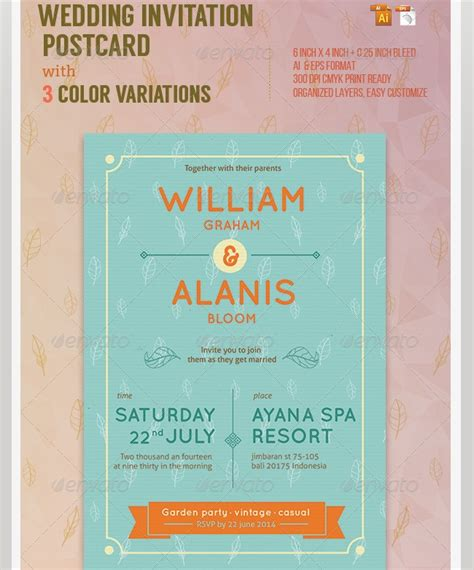 indesign invitation template indesign wedding invitation templates