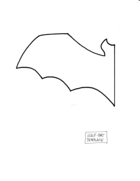6 best images of free printable bat template bat cut out