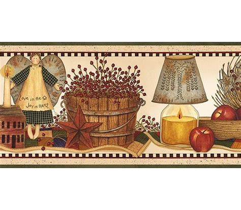 country kitchen wallpaper border primitive vintage and 48 best wallpapers and borders images on pinterest