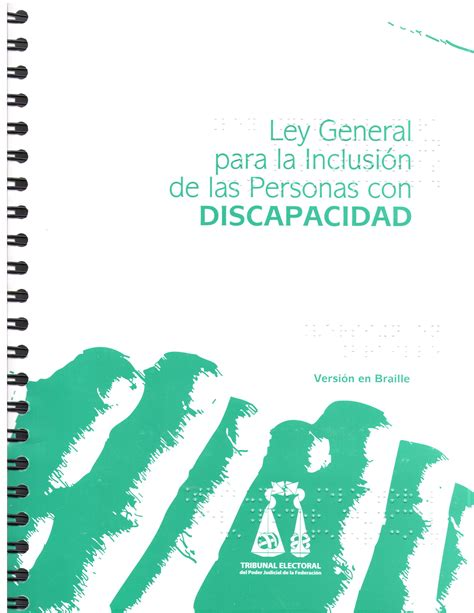 ley de discapacidad 2016 aranceles publicaciones en versi 243 n braille que se encuentran
