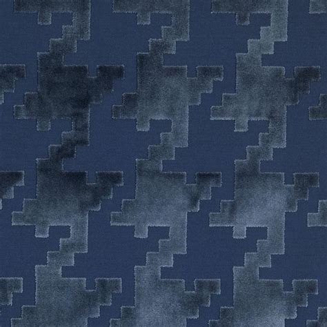 Large Scale Houndstooth Upholstery Fabric navy blue velvet houndstooth upholstery fabric large scale
