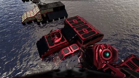 ark motorboat builds ark ps4 multi raft base build with motorboat raft armada