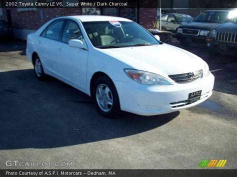 2002 Toyota Camry Le V6 White 2002 Toyota Camry Le V6 Charcoal