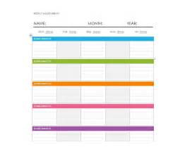 Weekly Schedule Calendar Template by 26 Blank Weekly Calendar Templates Pdf Excel Word
