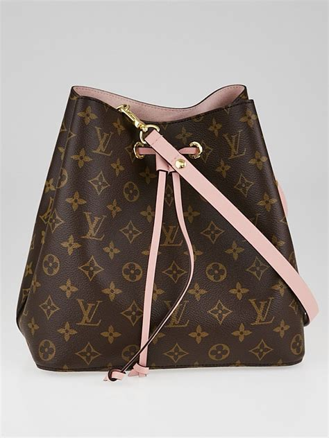 louis vuitton rose poudre monogram canvas neonoe bag