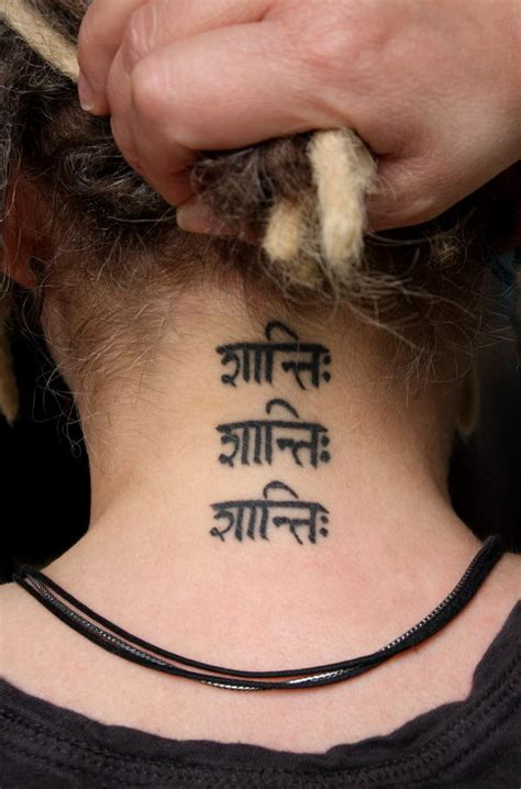 inner peace tattoo 30 cool sanskrit tattoos hative
