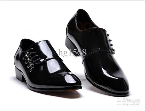 lowest price s black shine wedding shoes prom shoes