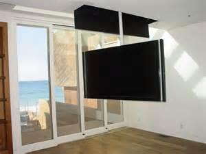 attic mount tv lift swivel contemporary bedroom